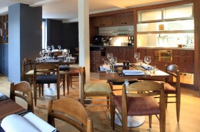 The Curlew restaurant looking towards the kitchen